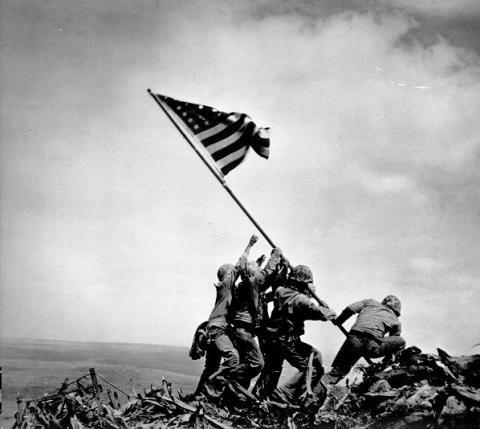 On February 23 1945 Joe Rosenthal Of The Associated Press Took Perhaps One Most Remembered Pictures World War II Raising US Flag Over