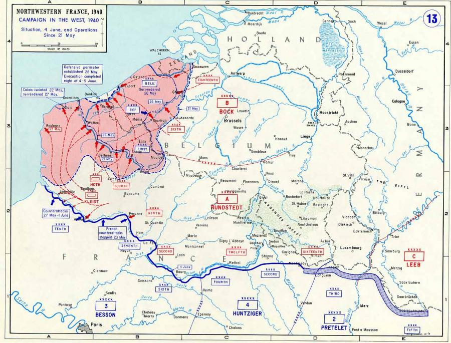 Northwest Europe 21 May to 4 June 1940: Reducing Allied ...