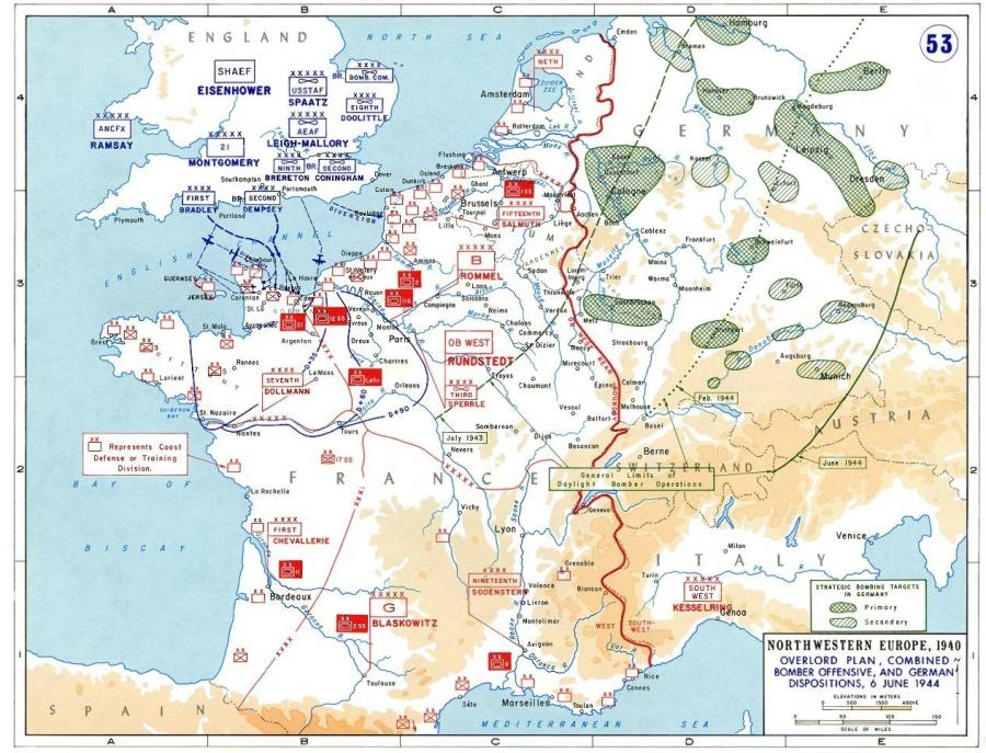 Map Of Germany France Border.Planning For Operation Overlord German Dispositions On June 6 1944